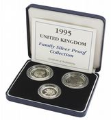 1995 3 x Coin Silver Proof Family Collection
